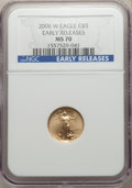 Modern Bullion Coins, 2006 $5 Tenth-Ounce Gold Eagle, Early Releases MS70 NGC. NGC Census: (6711). PCGS Population: (146). CDN: $190 Whsle. Bid f...