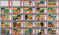 Baseball Cards:Sets, 1956 Topps Baseball PSA Graded Complete Set (342) With Both Checklists....