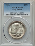 1936 50C Long Island MS64 PCGS. PCGS Population: (2529/2132). NGC Census: (2059/1705). CDN: $85 Whsle. Bid for NGC/PCGS...