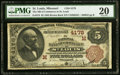 National Bank Notes:Missouri, Saint Louis, MO - $5 1882 Brown Back Fr. 474 The NB of Commerce Ch.# (M)4178 PMG Very Fine 20.. ...