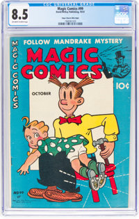 Magic Comics #99 Mile High Pedigree (David McKay Publications, 1947) CGC VF+ 8.5 Off-white to white pages