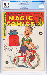 Magic Comics #61 Mile High Pedigree (David McKay Publications, 1944) CGC NM+ 9.6 Off-white to white pages