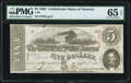 Confederate Notes:1863 Issues, T60 $5 1863 PF-21 Cr. 459 PMG Gem Uncirculated 65 EPQ.. ...