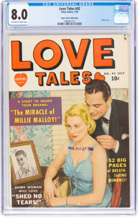 Love Tales #42 Mile High Pedigree (Atlas, 1950) CGC VF 8.0 Off-white to white pages