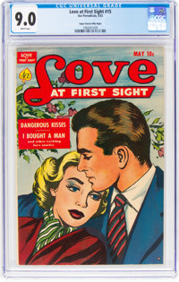 Love at First Sight #15 Mile High Pedigree (Ace, 1952) CGC VF/NM 9.0 White pages
