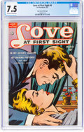 Golden Age (1938-1955):Romance, Love at First Sight #8 Mile High Pedigree (Ace, 1951) CGC VF- 7.5 Off-white to white pages....