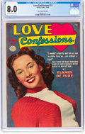 Golden Age (1938-1955):Romance, Love Confessions #13 Mile High Pedigree (Quality, 1951) CGC VF 8.0Off-white to white pages....