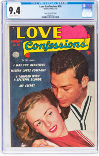 Love Confessions #16 Mile High Pedigree (Quality, 1952) CGC NM 9.4 Off-white to white pages
