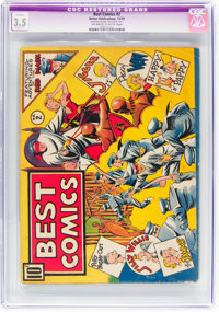 Best Comics #2 (Better Publications, 1939) CGC Apparent VG- 3.5 Slight (C-1) Off-white to white pages