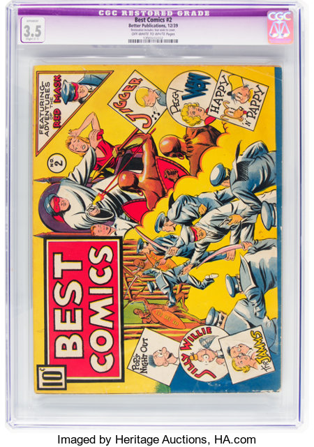 Best Comics #2 (Better Publications, 1939) CGC Apparent VG- 3.5 Slight (C-1) Off-white to white pages....