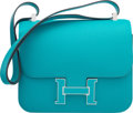 Luxury Accessories:Bags, Hermes 23cm Blue Paon Epsom Leather Double Gusset Verso Constance Bag with Palladium Hardware. X, 2016. Condition: 1...