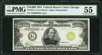 Fr. 2231-G $10,000 1934 Federal Reserve Note. PMG About Uncirculated 55