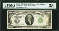 Fr. 2220-F $5,000 1928 Federal Reserve Note. PMG Choice Very Fine 35