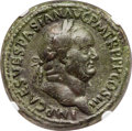 Ancients:Roman Imperial, Ancients: Vespasian (AD 69-79). AE sestertius (34mm, 25.80 gm, 7h).NGC XF 4/5 - 2/5, smoothing....
