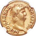 Ancients:Roman Imperial, Ancients: Nero (AD 54-68). AV aureus (19mm, 7.23 gm, 6h). NGCChoice Fine 5/5 - 4/5....