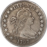 1797 50C O-102, T-2, High R.5 -- Surfaces Smoothed -- PCGS Genuine. XF Details. Amato Unlisted....(PCGS# 39266)