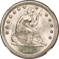 Seated Quarters, 1881 25C MS68 NGC. Briggs 1-A....