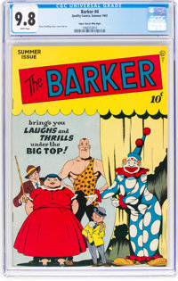 The Barker #4 Mile High Pedigree (Quality, 1947) CGC NM/MT 9.8 White pages