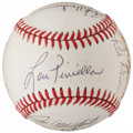 Autographs:Baseballs, 1987 New York Yankees Multi-Signed Baseball (16 Signatures)....