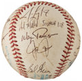 Autographs:Baseballs, 1990 New York Yankees Team Signed Baseball (22 Signatures)....