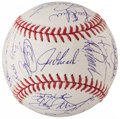 Autographs:Baseballs, 2008 New York Yankees Team Signed Baseball - Final Season of Yankee Stadium (26 Signatures)....