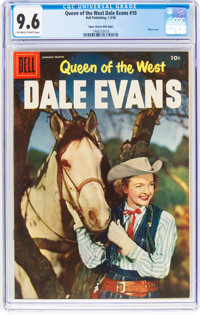 Queen of the West Dale Evans #10 Mile High Pedigree (Dell, 1956) CGC NM+ 9.6 Off-white to white pages