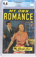Golden Age (1938-1955):Romance, My Own Romance #7 Mile High Pedigree (Marvel, 1949) CGC NM 9.4White pages....
