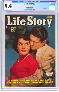 Life Story #5 Mile High Pedigree (Fawcett Publications, 1949) CGC NM 9.4 Off-white to white pages