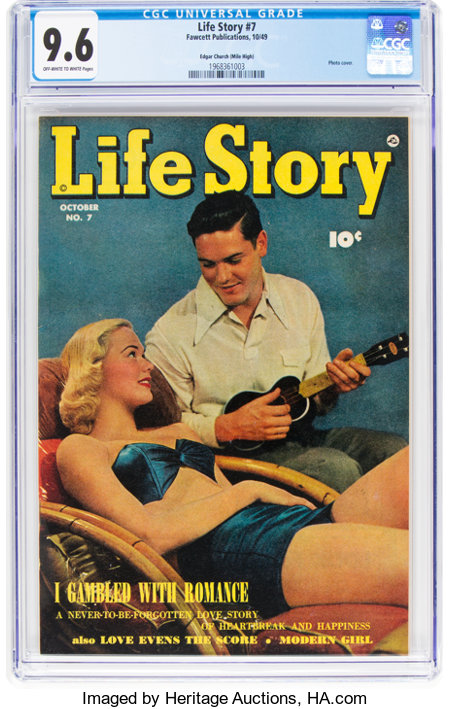 Life Story #7 Mile High Pedigree (Fawcett Publications, 1949) CGC NM+ 9.6 Off-white to white pages....