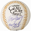 "Autographs:Baseballs, Steve Garvey ""4x Gold Glove"" Single Signed Gold Glove Baseball...."