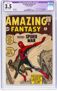 Amazing Fantasy #15 (Marvel, 1962) CGC Apparent VG- 3.5 Off-white to white pages