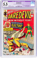 Silver Age (1956-1969):Superhero, Daredevil #2 (Marvel, 1964) CGC Apparent FN- 5.5 Slight (C-1) Off-white to white pages....