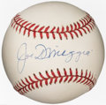 Autographs:Baseballs, Joe DiMaggio Single Signed Baseball...