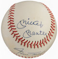 Autographs:Baseballs, Mickey, Willie, & the Duke Multi-Signed Baseball....