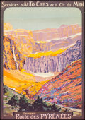 """Movie Posters:Miscellaneous, Gavarnie: Route des Pyrenees (1920s). Fine/Very Fine on Linen. Full-Bleed French Travel Poster (27.5"""" X 39.5"""") Roger Soubie ..."""