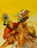 Mainstream Illustration, Charlie Dye (American, 1906-1972). Six for Hell, Fifteen Western Tales magazine cover, January 1950. Oil on board. 17.5 ...