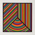 Fine Art - Work on Paper:Print, Sol LeWitt (1928-2007). Untitled, from Color Bands,2000. Linocut in colors on Somerset Velvet paper. 24 x 24 inches...