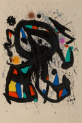 Fine Art - Work on Paper:Print, Joan Miró (1893-1983). L'Étudiant, 1975. Lithograph incolors on Arches paper. 33-1/2 x 22-3/4 inches (85.1 x 57.8 cm)(...