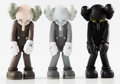 Collectible:Contemporary, KAWS (b. 1974). Small Lie, set of three, 2017. Painted cast vinyl. 11 x 4-1/2 x 3-1/2 inches (27.9 x 11.4 x 8.9 cm) (eac... (Total: 3 Items)