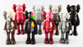 Collectible:Contemporary, KAWS (b. 1974). Companion, set of eight, 2016. Painted cast vinyl. 11 x 4-1/2 x 3 inches (27.9 x 11.4 x 7.6 cm) (each). ... (Total: 8 Items)