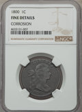 Large Cents, 1800 1C -- Corrosion -- NGC Details. Fine. NGC Census: (7/26). PCGS Population: (17/114). CDN: $350 Whsle. Bid for problem-...