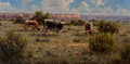 Paintings, Kenny McKenna (American, b. 1950). Palo Duro Icons. Oil on canvas. 18 x 36 inches (45.7 x 91.4 cm). Signed lower right: ...