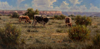 Kenny McKenna (American, b. 1950) Palo Duro Icons Oil on canvas 18 x 36 inches (45.7 x 91.4 cm)