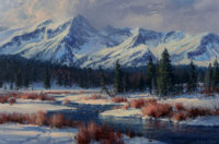 Robert Peters (American, b. 1960) A Winter Morning Radiance Oil on canvas 20 x 30 inches (50.8 x