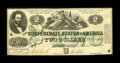 Confederate Notes:1862 Issues, T43 $2 1862 Cr. 338 PF-1.. ...