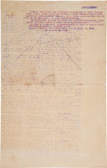 Autographs:Non-American, Emiliano Zapata Typed Circular, Addressed to Brig. Gen. MucioMarín, Signed ...