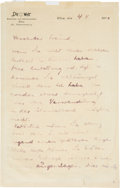 """Autographs:Non-American, Theodor Herzl Autograph Letter Signed  """"Herzl"""