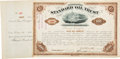Autographs:Celebrities, John D. Rockefeller Standard Oil Trust Stock Certificate Signed ...