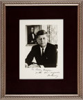 Autographs:U.S. Presidents, John F. Kennedy Photograph Signed ...