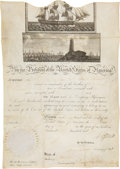 Autographs:U.S. Presidents, Thomas Jefferson Signed Scallop Top Ship's Passport....